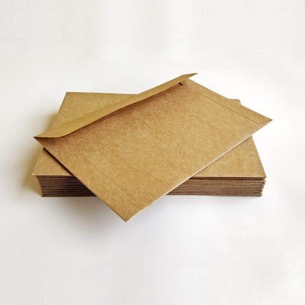 Premium Kraft Envelopes for Craft, Letters, Poetry, Cards, Invites - Pack of 50 - 6.25 * 4.25 inches