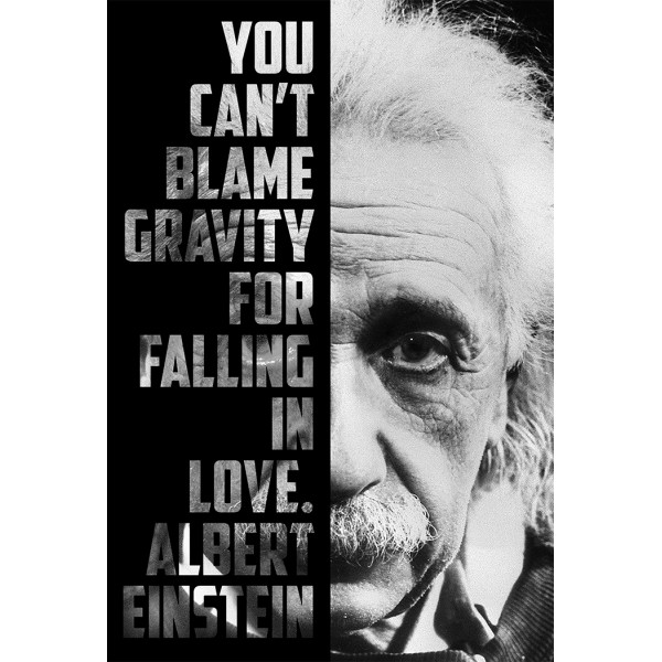 You Can't Blame Gravity for Falling In Love - Albert Einstein