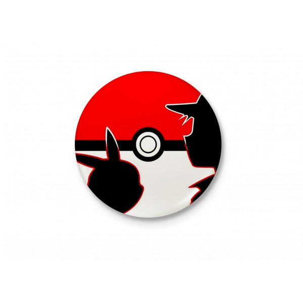 Ash and Pikachu - Pokeball Badge