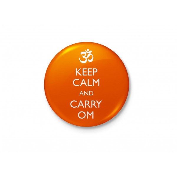 Keep Calm and Carry Om - Typography Badge
