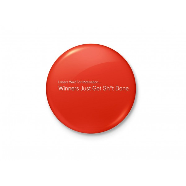 Winners Get Shit Done - Motivational Minimalist Badge