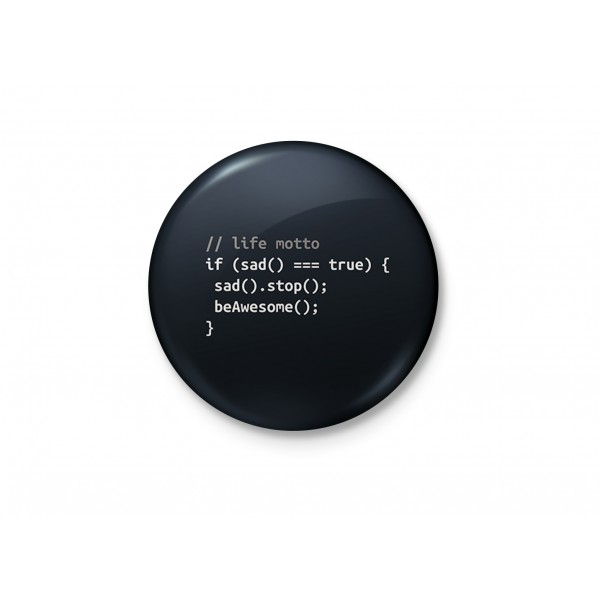 A Coder's Guide To Awesomeness - Typography Badge