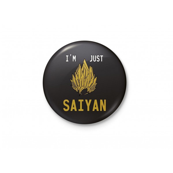 I'm Just Saiyan - Goku DragonballZ - Minimalist Badge