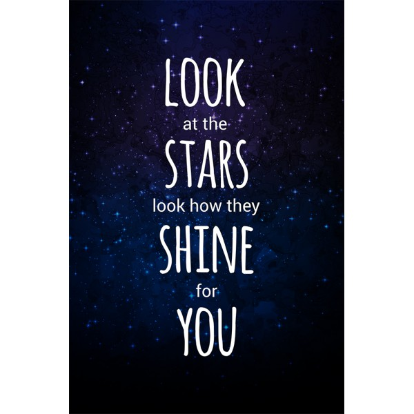 Coldplay Poster - Look at the stars, look how they shine for you!
