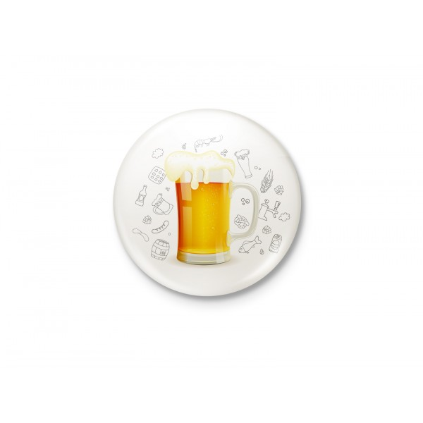 Beer Illustration - Minimalist Badge