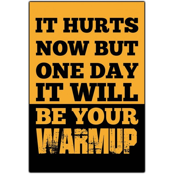 Workout Towels With Sayings: It Hurts Now But One Day It Will Be Your Warmup