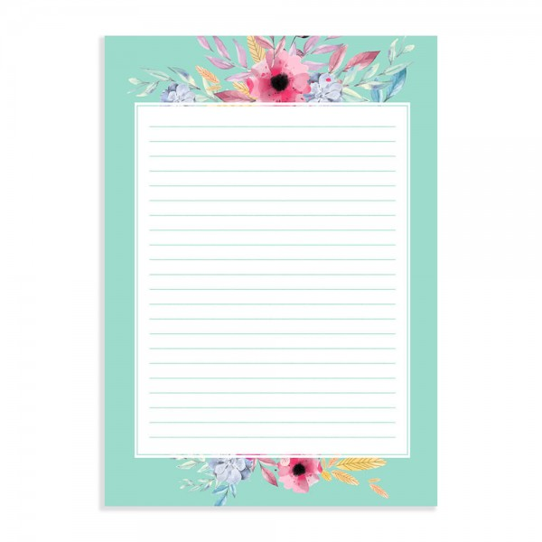 Aqua Island - Sheets for Letters, Poetry and Lyrics with Envelopes