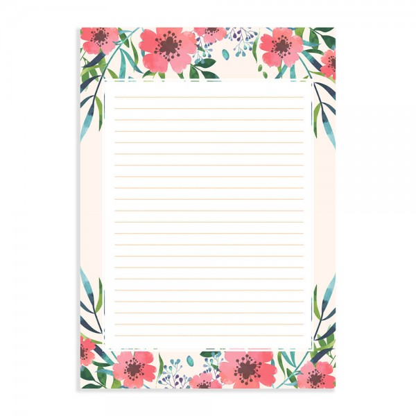 Seashell Peach - Sheets for Letters, Poetry and Lyrics with Envelopes